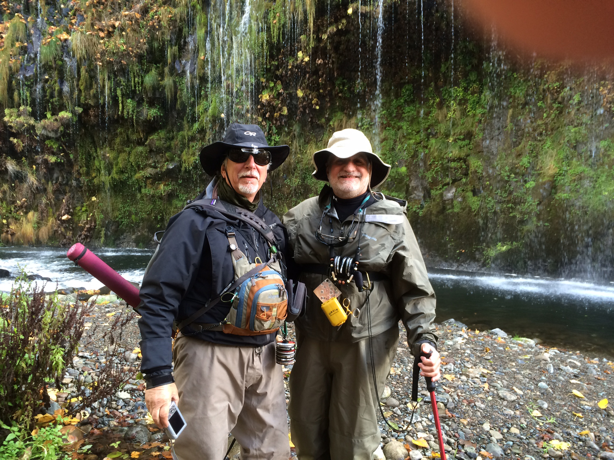 Ed Beggs and John Vlahos at Mossbrae Falls